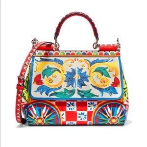 Dolce & Gabbana Sicily Small Printed Texturedleath